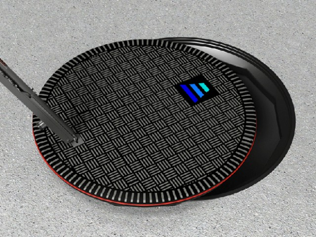 Hevo wireless electric car charging station