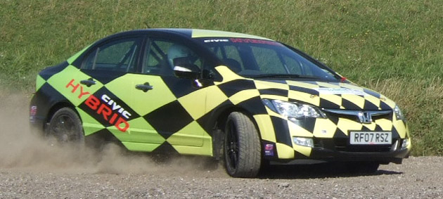 Civic Hybrid race car designed for stage rallying and circuit racing