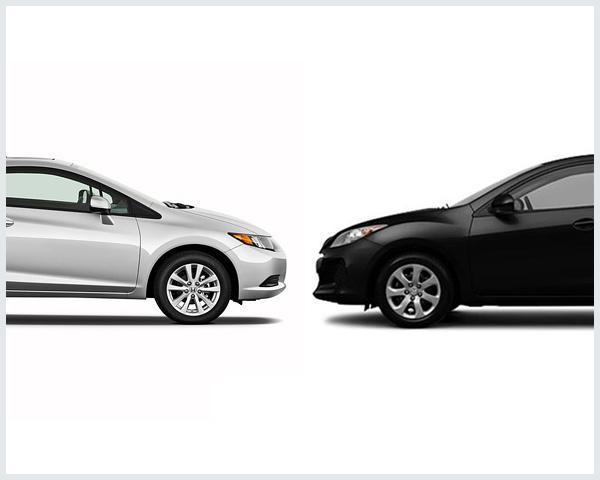 Honda Civic Vs. Mazda Mazda3