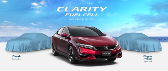 Honda Clarity teaser image, April 2016