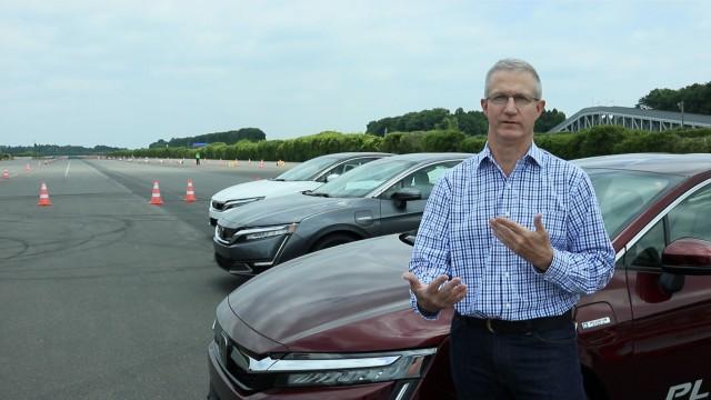 Honda Clarity series with Green Car Reports editor John Voelcker at Honda R&D Center, Tochigi, Japan