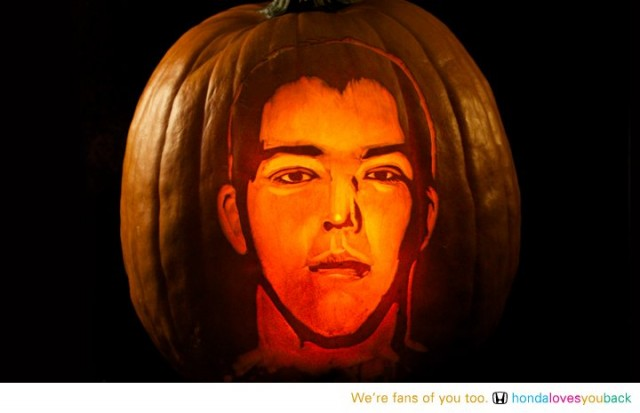 Honda Fan's Faces Carved Onto Pumpkins