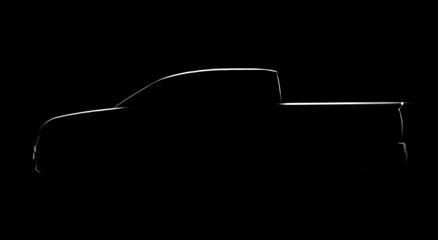 Official design sketch previewing 2016 Honda Ridgeline