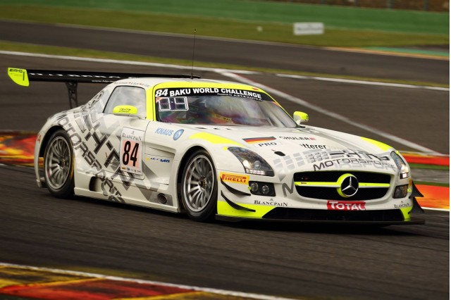 HTP-Motorsport's 2013 Mercedes-Benz SLS AMG GT3 race car at the Spa 24 Hours