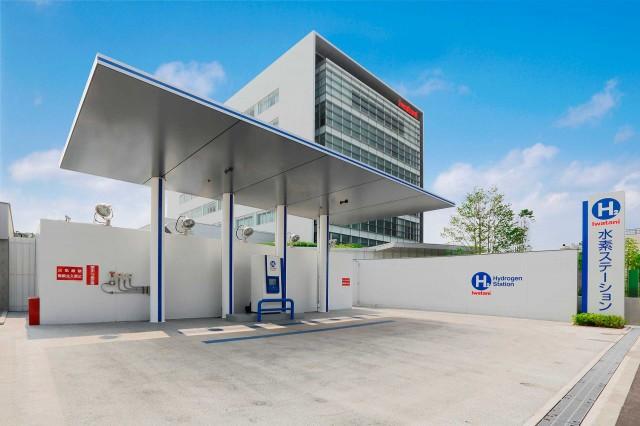 Hydrogen station in Amagasaki City, Japan