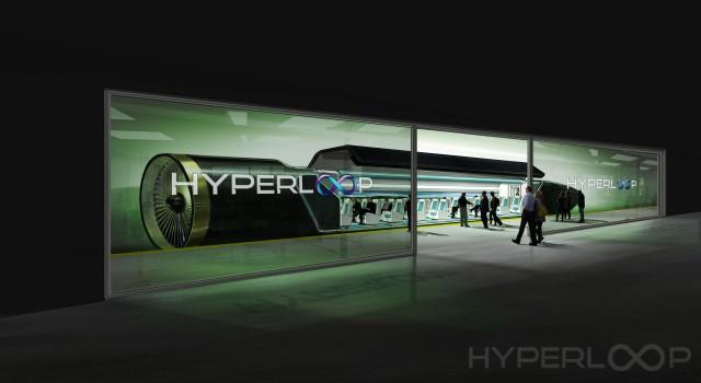 Hyperloop One concept drawing