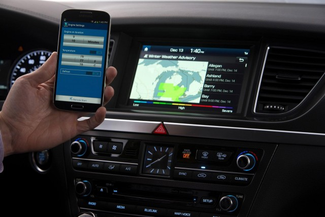 Hyundai next-generation Blue Link interface