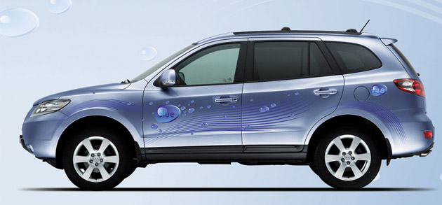 hyundai reveals santa fe blue hybrid. Black Bedroom Furniture Sets. Home Design Ideas