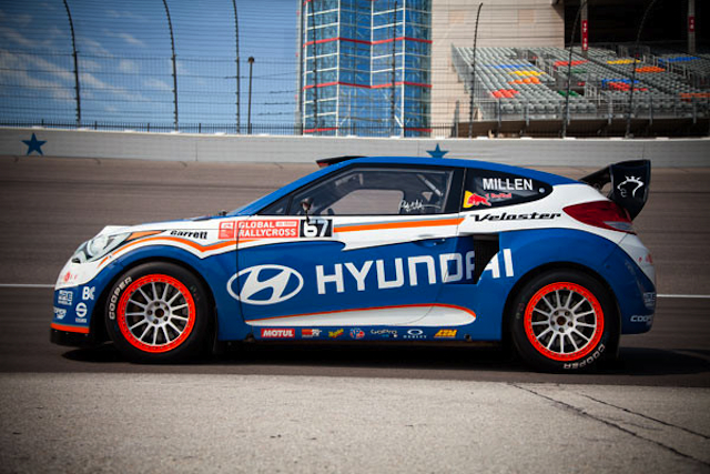 Hyundai Turbo Veloster Global Rallycross car, available from RMR - image: RMR