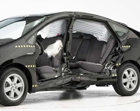 IIHS side crash test of 2004-2006 Toyota Prius