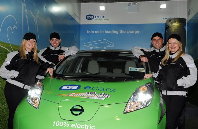 ESB ecars Nissan Leaf Cannonball team
