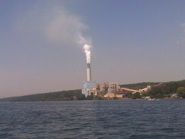 Electric power plant outside Ithaca, New York