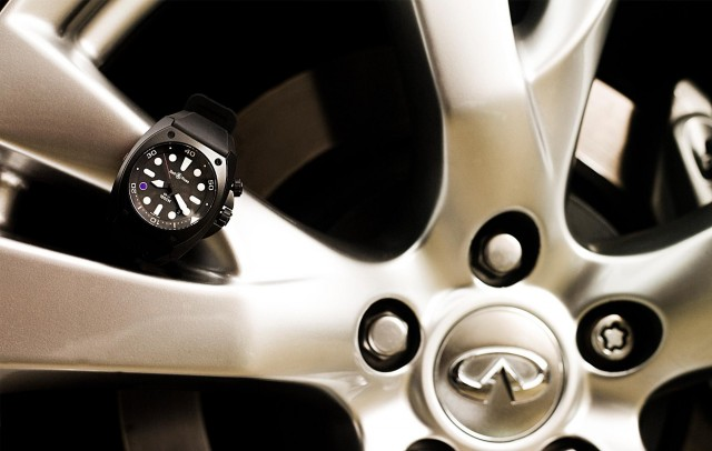 The Bell & Ross BR02-8 Infiniti Carbon Case 8 Pro Dial. Image: Infiniti