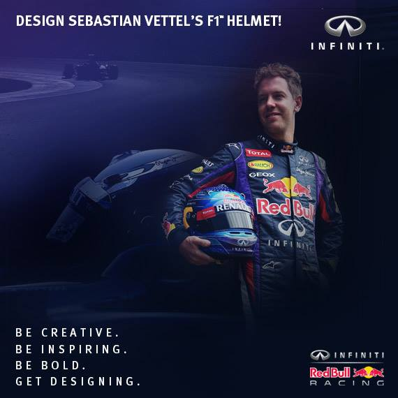Infiniti contest will let fans design Sebastian Vettel's helmet for the 2013 U.S. Grand Prix.
