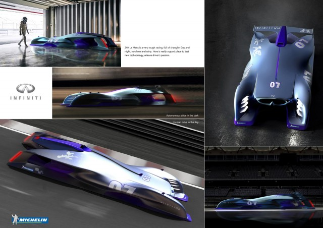 Infiniti Le Mans 2030 is the winning entry in the 2017 Michelin Design Challenge
