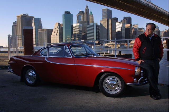 Irv Gordon with 1966 Volvo P1800