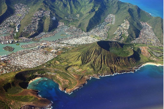 Island of O'ahu, Hawaii. Image: Wikimedia Commons