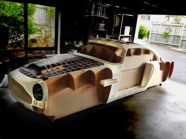 Ivan Sentch's 3D-printed Aston Martin DB4 replica under construction. Image by Ivan Sentch.