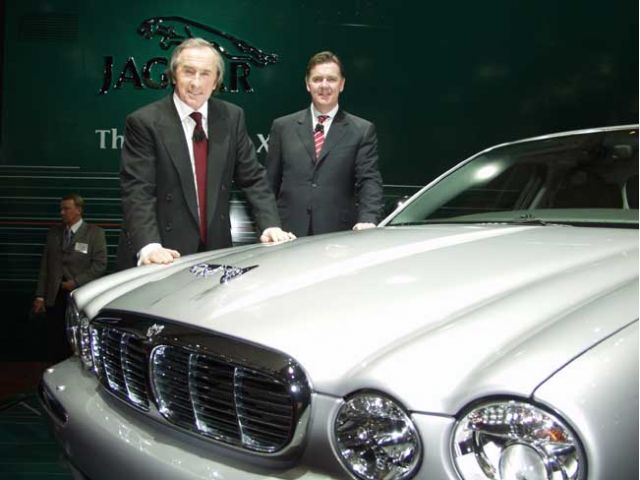 Jackie Stewart and Jaguar XJ