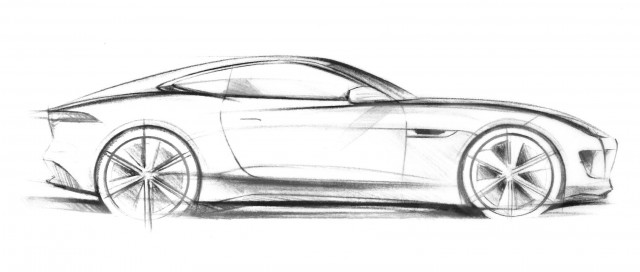 Jaguar C-X16 concept official sketch