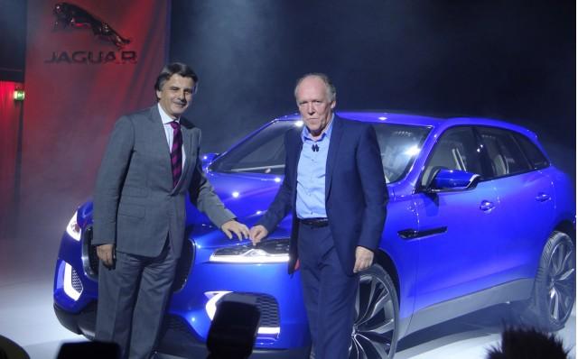 Jaguar Land Rover CEO Ralph Speth (left) and head designer Ian Callum