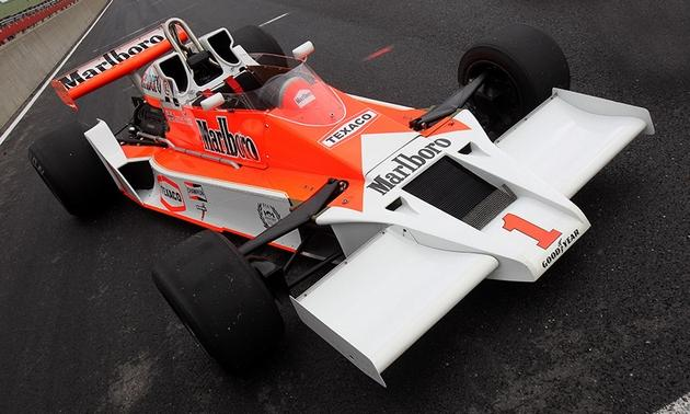 James Hunt's 1977 McLaren M26 F1 race car. Photos via RK Motors.