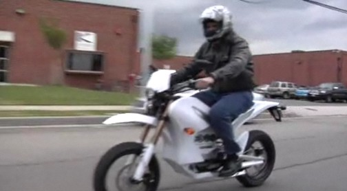 Jay Leno rides the Zero S electric motorcycle