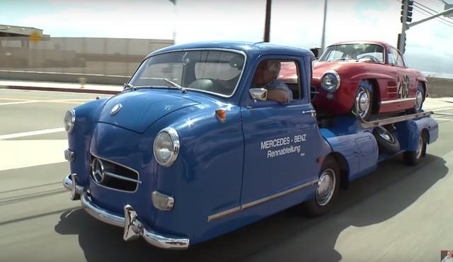 Jay Leno Shows Off His Vintage Mercedes Race Car Transporter