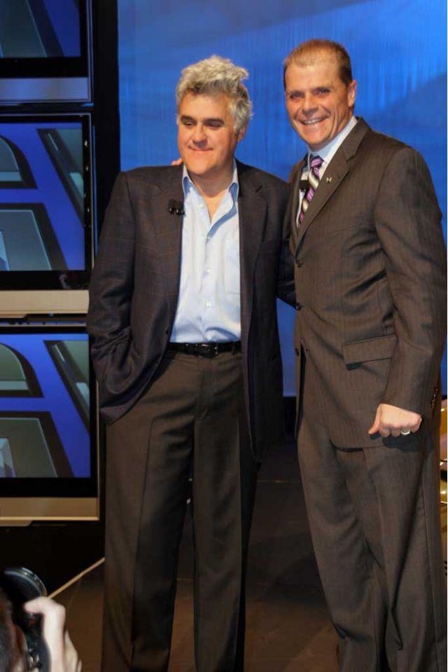 Jay Leno and Mark LaNeve