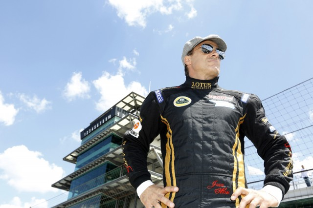 Jean Alesi at Indianapolis Motor Speedway's Pagoda - photo courtesy IZOD IndyCar Series