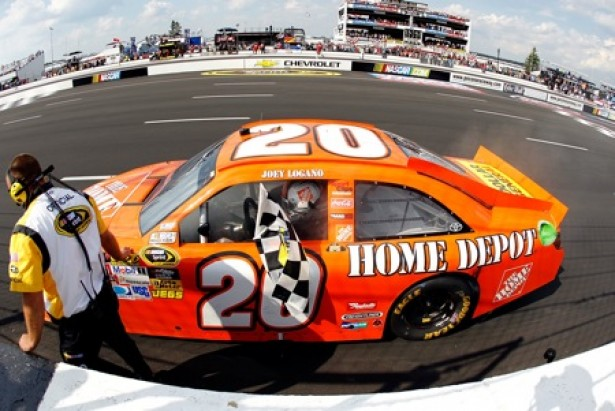 Joey Logano wins Pocono 400, June 10, 2012