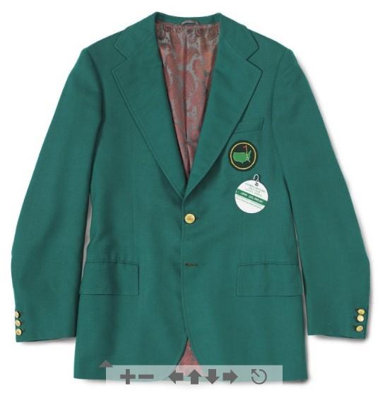 John DeLorean's Augusta National Golf Club green members jacket