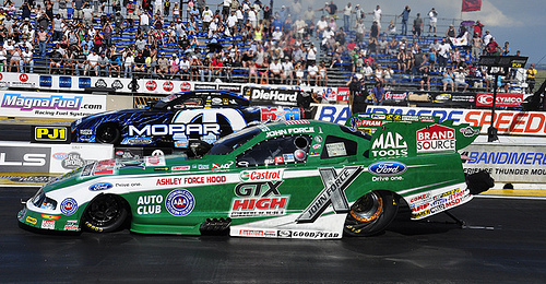John Force won in Funny Car for the first time this year. Photo: Anne Proffitt