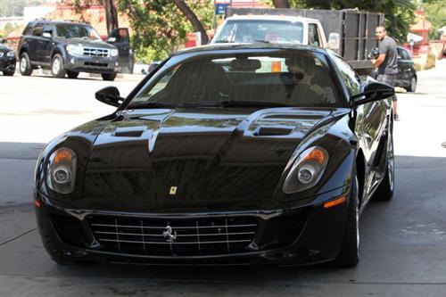 John Mayer rolls in a Ferrari 599 GTB