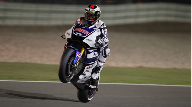 Jorge Lorenzo earns Qatar pole - courtesy MotoGP