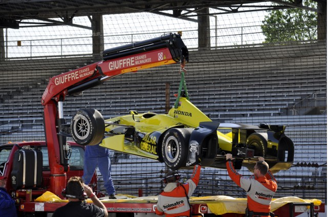 Josef Newgarden was fast - but crashed - Anne Proffit photo