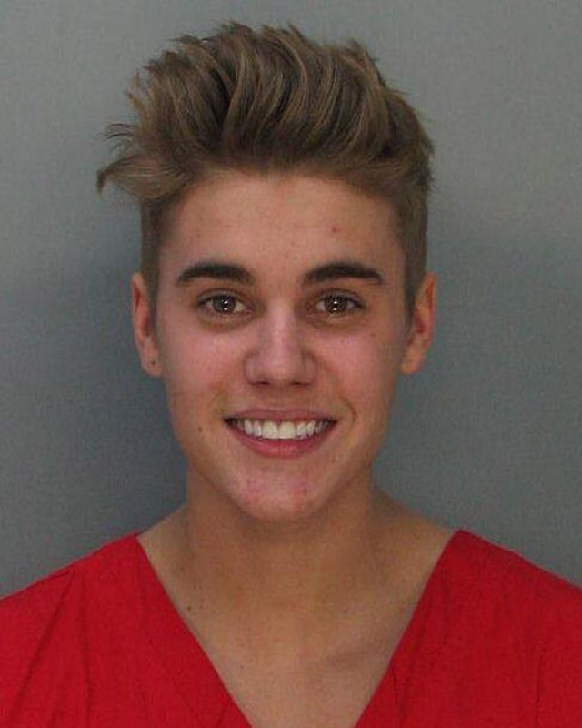 Justin Bieber's mug shot taken at Miami jail