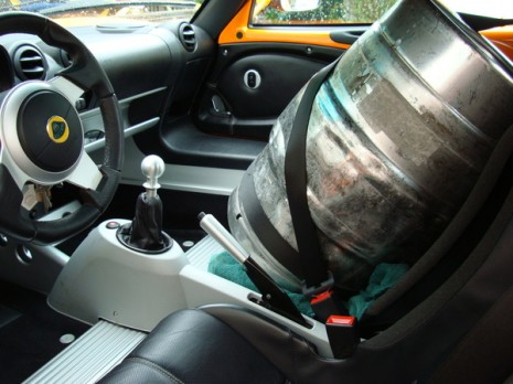 Keg Sitting In A Lotus