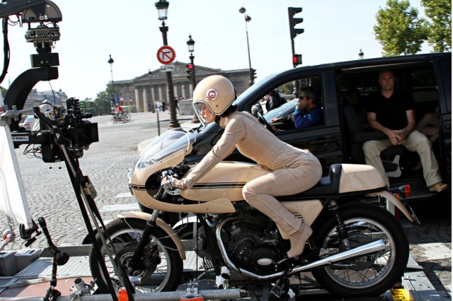 Keira Knightley rides a Ducati for Chanel