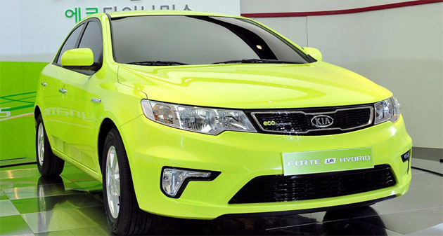 The car is Kia's first mass-produced hybrid