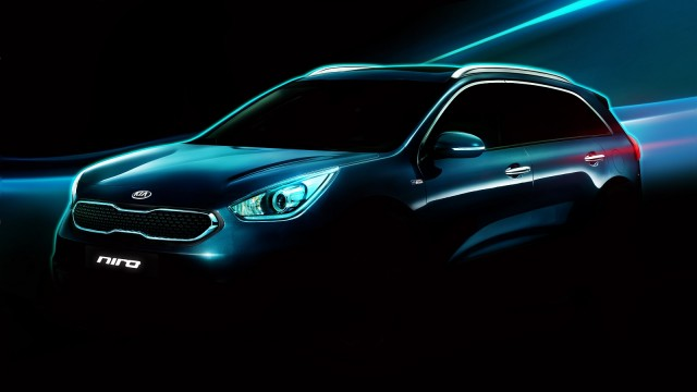 Kia Niro 'hybrid utility vehicle' teaser shot