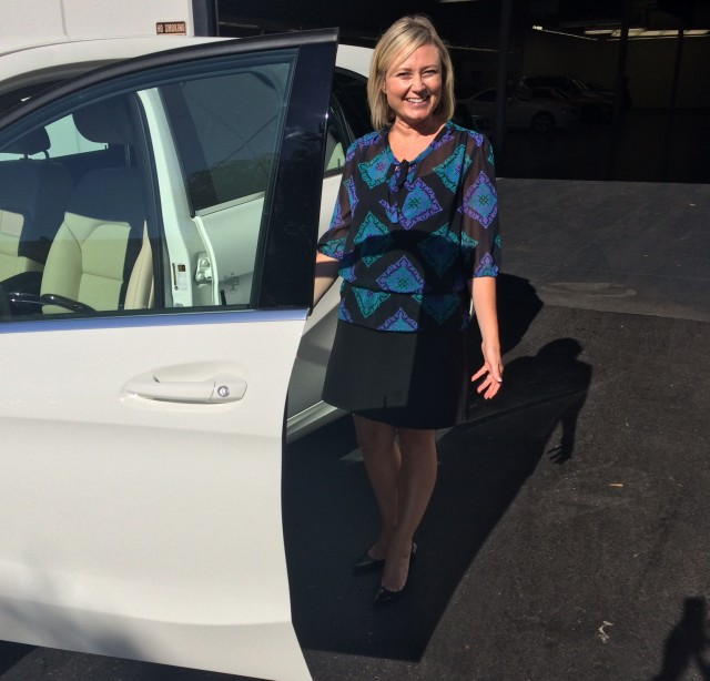 Kim Price, first buyer of 2014 Mercedes-Benz B-Class Electric Drive