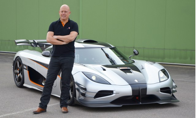 Christian von Koenigsegg and the Koenigsegg One:1