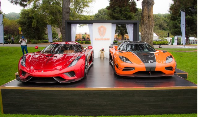Koenigsegg Regera and first U.S.-spec Agera RS, 2016 Monterey Car Week