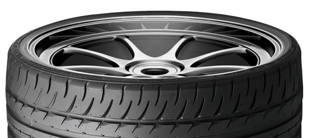 The extra-low-profile tire is also extra wide to enable massive traction and minimal sidewall flex