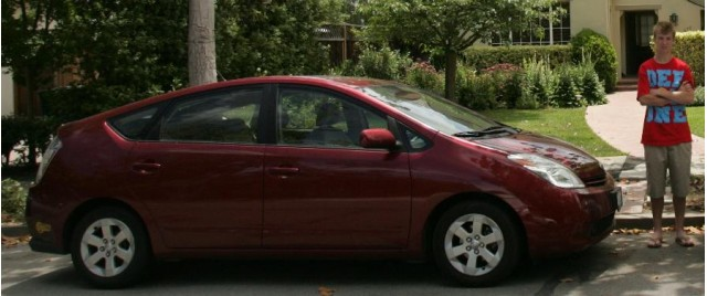 Kyle with his family Toyota Prius