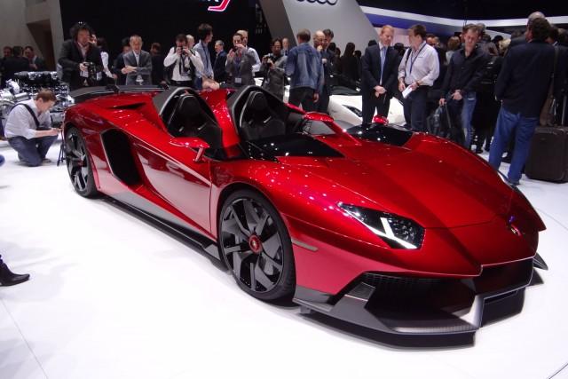 Lamborghini Aventador J live photos
