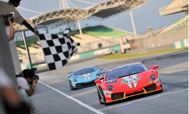 Lamborghini Blancpain Super Trofeo race at Malaysia's Sepang International Circuit