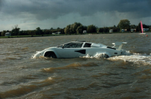 Lamborghini Countach amphibious car