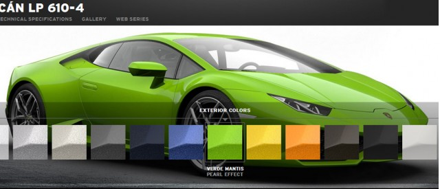 lamborghini launches hurac n lp 610 4 configurator. Black Bedroom Furniture Sets. Home Design Ideas